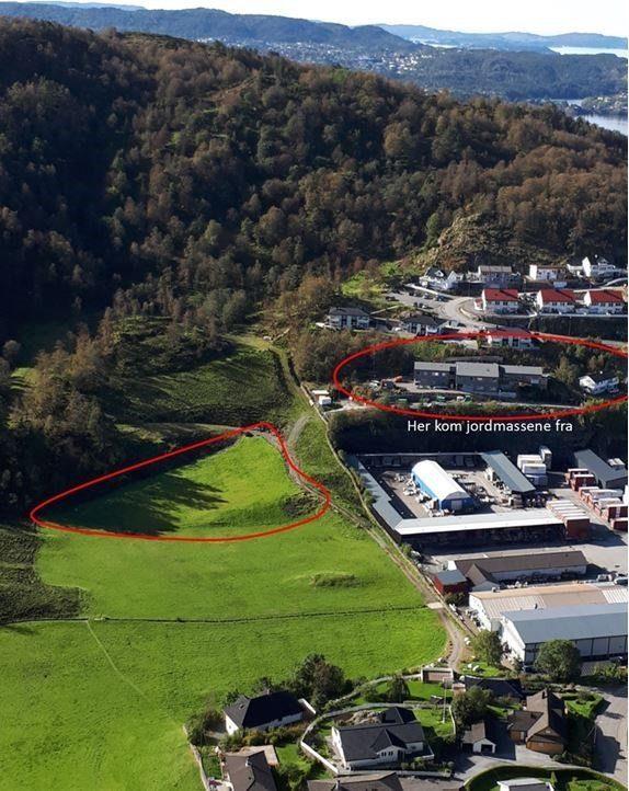 Jordmasseprosjekt fra toppe i bergen tt nlrv